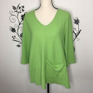 Habitat textured lagenlook tunic green